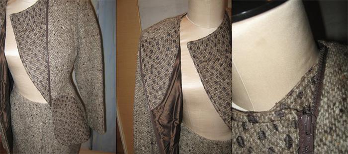 Geoffrey Beene woolen suiting with woven details